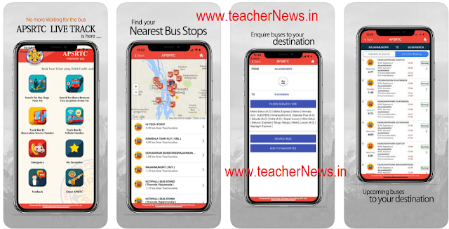 APSRTC App  Features - Bus live Track, Reservation, Bus arrival information