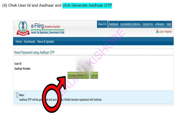 Income Tax e filling Password Reset Process 4