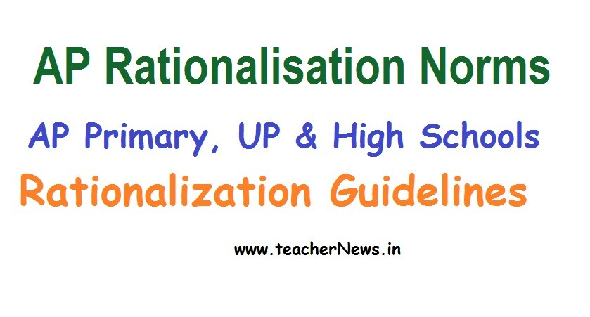 AP Rationalisation Norms 2020 - AP Primary UP High Schools Rationalization Guidelines