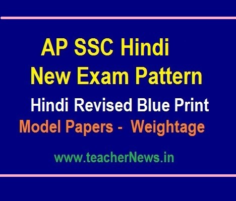10th Class Hindi Model Papers and SSC Hindi Blue Print - New Weightage 2019-20