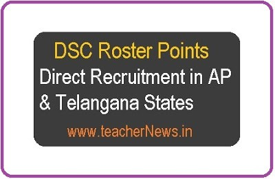DSC Roster Points Appointment for Direct Recruitment in AP & Telangana States