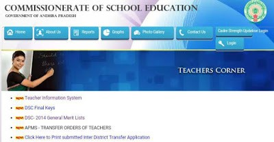 Teachers Information System Data Entry Guidelines in AP at cse.ap.gov.in