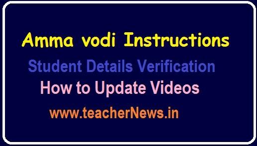 Amma Vodi Activity Schedule 2019 - Students list Download, Update process Videos
