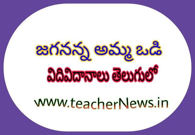 Jagananna Amma vodi Eligible Procedure in Telugu GO 79 Dt.4th Nov, 2019