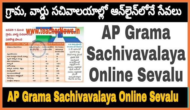 AP Grama Sachivavalaya Online Sevalu (500) Details   How to Apply Spandana Program