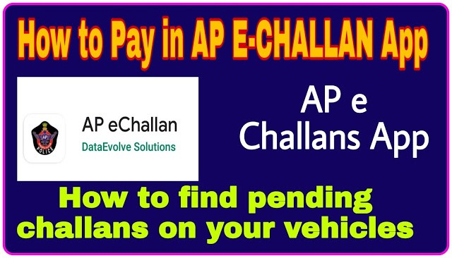 How to Pay in AP E-CHALLAN App - you can search for all pending challans on your vehicles