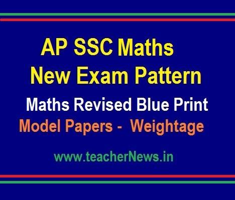 AP 10th Class Maths Model Paper, Blue Print SSC Mathematics New Weightage 2019-20