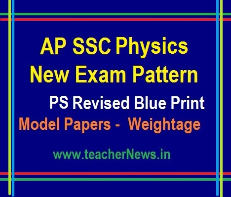 AP 10th Class Physical Science Model Paper, Blue Print - SSC PS New Weightage 2019-20