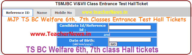 MJPTBCWREIS RJC RDC Hall tickets/ Results 2020 TS BC MJP Inter Degree Result Selection list