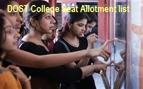 DOST Seat Allotment Phase1st / 2nd at www.dost.cgg.gov.in OU Degree Online Seat Allotment Order 1st Phase list