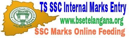TS SSC Internal Marks Online Entry For FA, SA Marks - Online feeding Proformas, Guidelines 2020