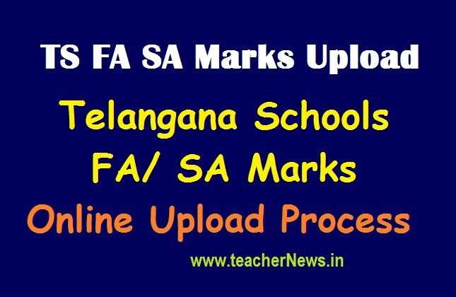 TS FA SA Marks Upload (Data entry) link @ schooledu.telangana.gov.in