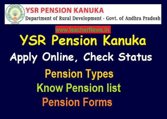 YSR Pension Kanuka Apply Online Check Status, Know pension list | Pensions Forms download