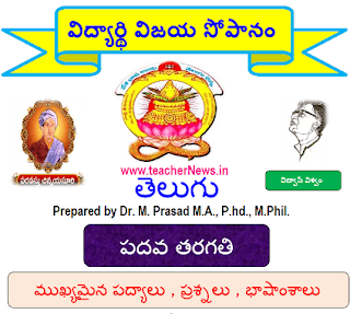 10th Telugu Slow learners Material, SSC Telugu Important Questions, Poems