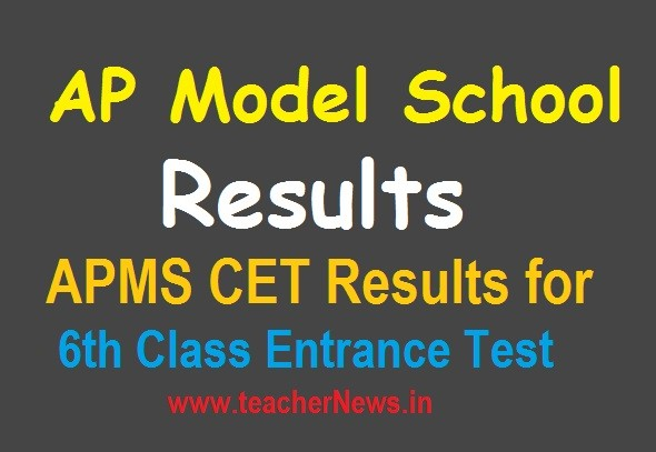 AP Model School 6th Results 2020 | APMS Rank Cards Merit Selection list at apms.apcfss.in