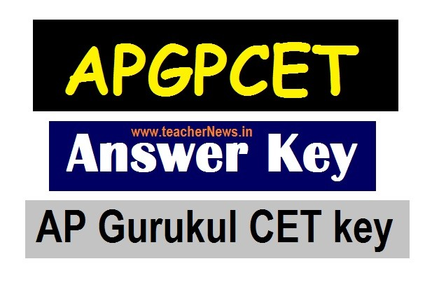 APGPCET Answer Key 5th Class - Download AP Gurukul CET key 2020