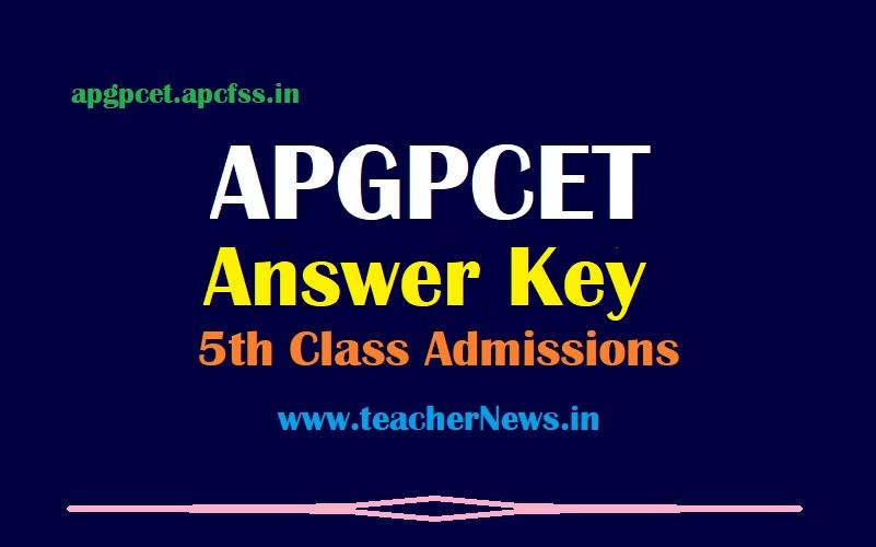 APGPCET Answer Key 5th Class - Download AP Gurukul CET key 2021