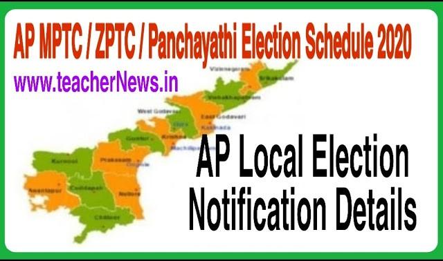 AP MPTC ZPTC Election Revised Schedule 2021 | AP Local Election Notification, Reservation Details
