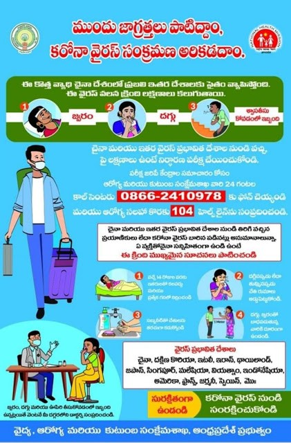AP Govt. Guidelines for Karona Virus | Before Kovid 19 instructions