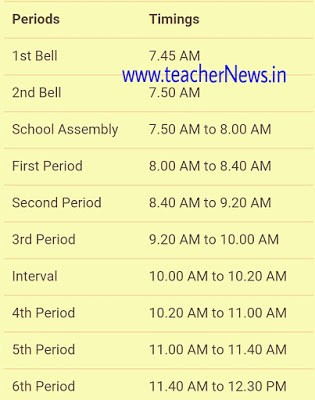 AP Half Day Schools Starts From 16-03-2020 | Half Day School Time Table 2020