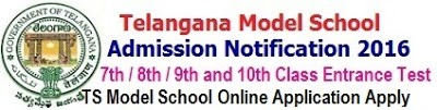 TS Model School Online Apply for 7th/ 8th/ 9th/ 10th classes Admission 2020