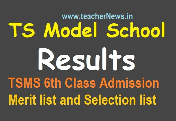 TS Model School Results For 6th Admissions 2020 - Download TSMS Admission Test Result