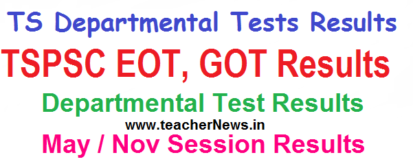 TS Departmental Test Results May/ Nov 2019 Session Results of EOT 141 GOT 88-97