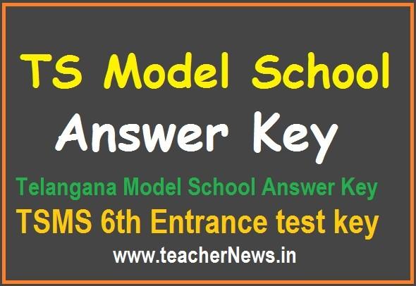 Telangana Model School Answer Key 6th Class - Download TSMS Entrance test key 2020