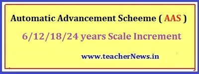 Teachers AAS Bill Software 6/ 12/ 18/ 24 Years - Automatic Advancement Scheme Proceeding