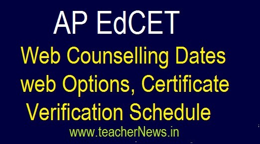 AP EdCET Web Counselling Schedule 2020 | AP B.Ed web Options, Certificate verification Dates