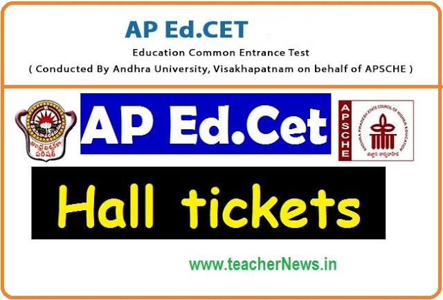 AP Ed.CET Hall Tickets 2020 | AP B.Ed Admission Test Hall tickets 2020