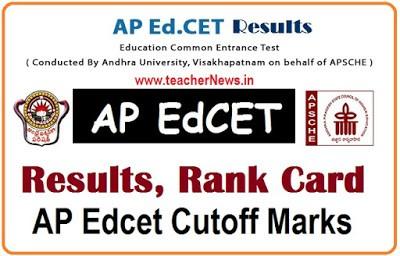 AP EdCET 2020 Results, Rank Cards, Marks, B.Ed. Admission Entrance Test Results