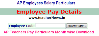 AP Employee Salary Details Teachers Salary Particulars Download DDO Request treasury.ap.gov.in