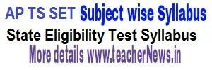 AP TS SET 2020 Syllabus Subjects - Download Paper I & II SET Exam Pattern