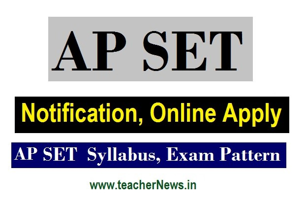 APSET 2020 Notification AP State Eligibility Test Online application form link here