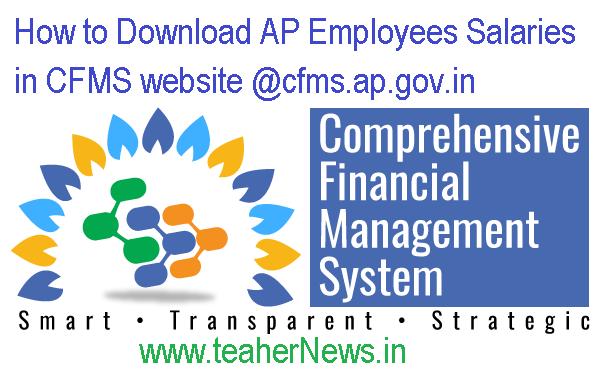 How to Download AP Employees Salaries in CFMS website @cfms.ap.gov.in
