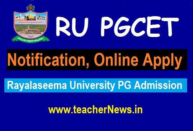 RUPGCET 2020 Notification, Application Form, Eligibility, Dates, Syllabus @ www.rudoa.in