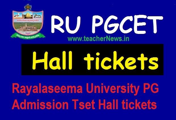 Rayalaseema University PGCET Hall Tickets 2020 | RUPGCET MA, MSc, M.Com Hall tickets