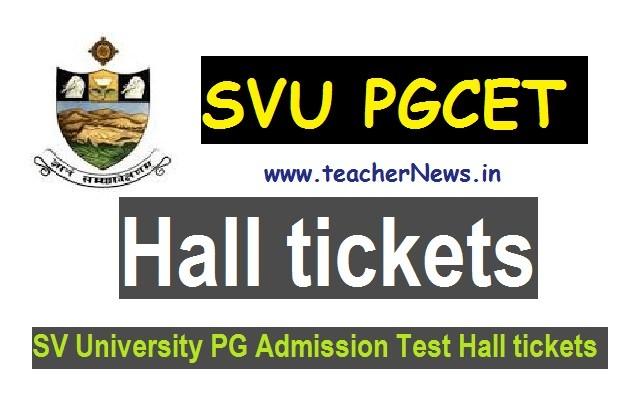 SV University PGCET Hall Tickets 2020 - Download SVUCET M.Sc,MA,M.Com Hall tickets 2020
