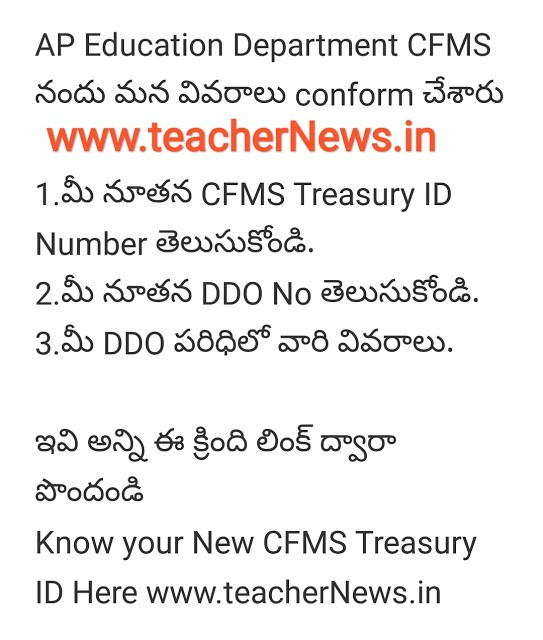 How to Know your CFMS ID, DDO ID Number at apfinance.apcfss.in