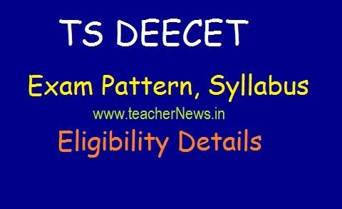 TS DEECET Exam Pattern, Syllabus 2020 | TS DEECET Eligibility Details 2020