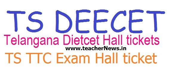 TS DEECET Hall tickets 2020 | Telangana DEECET Admit Card Download @ deecet.cdse.telangana.gov.in