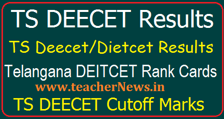 TS Deecet/Dietcet Results 2020 - Telangana DEECET Rank Card, Merit list, Cutoff Marks @ tsdeecet.cgg.gov.in