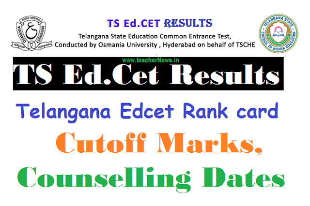 TS Ed.Cet Results 2020 | Telangana Edcet Rank card, Cutoff Marks, Web Counselling Dates