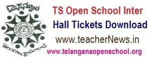 TOSS/ TS Open Inter Hall tickets 2020 - Telangana Open School Inter Hall ticket downlaod
