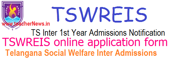TSWRIES Inter Admissions 2020 TS Social Welfare Inter Online Apply for MPC BiPC MEC CEC HEC Groups