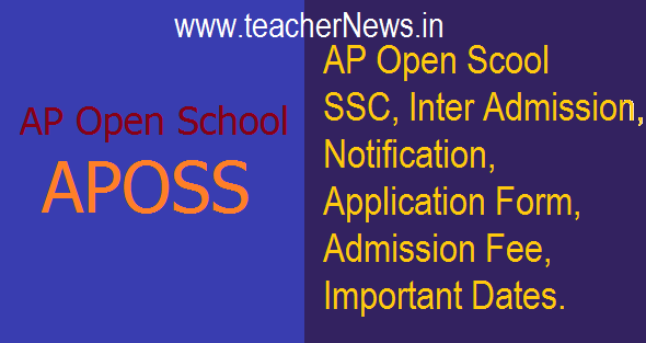 AP Open School (APOSS) SSC Inter Admission 2020 Notification Details @apopenschool.org