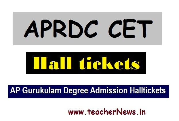 APRDC 2020 Hall Tickets aprjdc.apcfss.in | AP Gurukulam Degree Admission Halltickets 2020