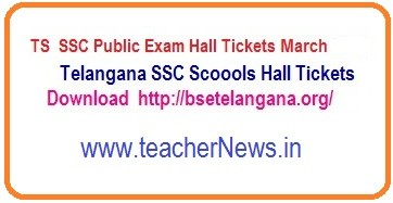 TS SSC Hall Tickets 2020 | Telangana 10th Hall tickets March 2020 bsetelangana.org