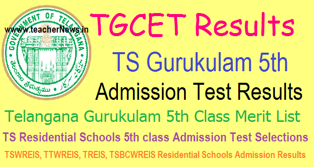 TS Gurukulam (TGCET) Results 2020 | TGCET 5th Admission Results, Counselling Dates, Certificate Verification Schedule